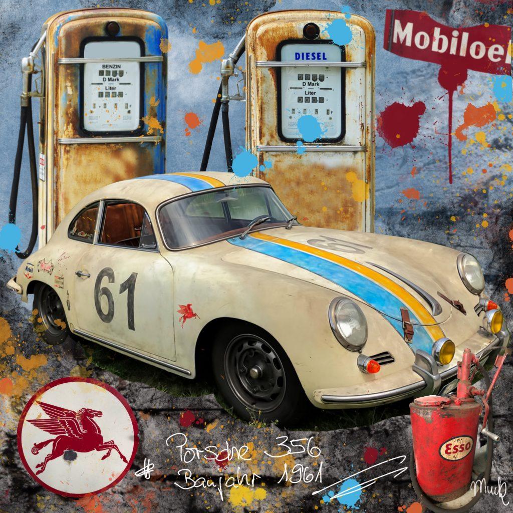 Collage Porsche 356 Bj. 1961 Muck's Art