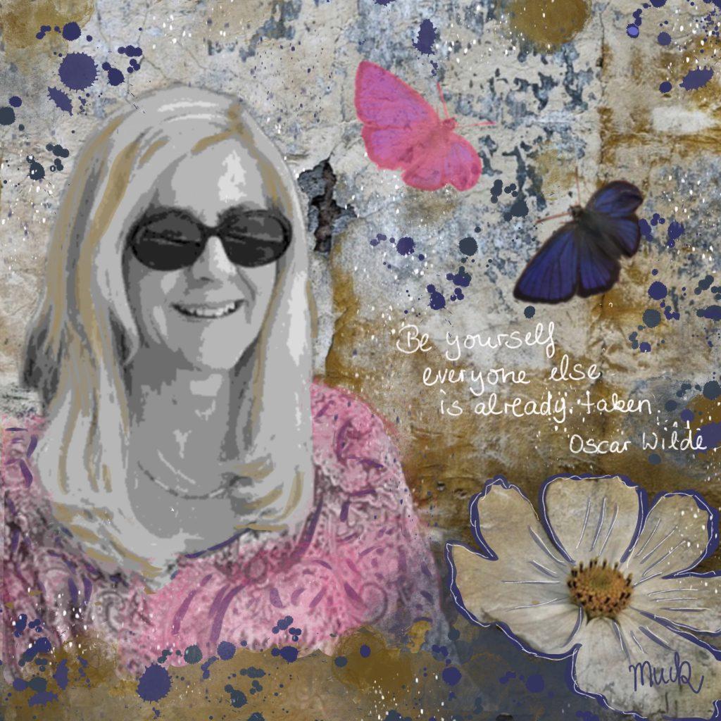 Collage Selbstporträt Be yourself Muck's Art