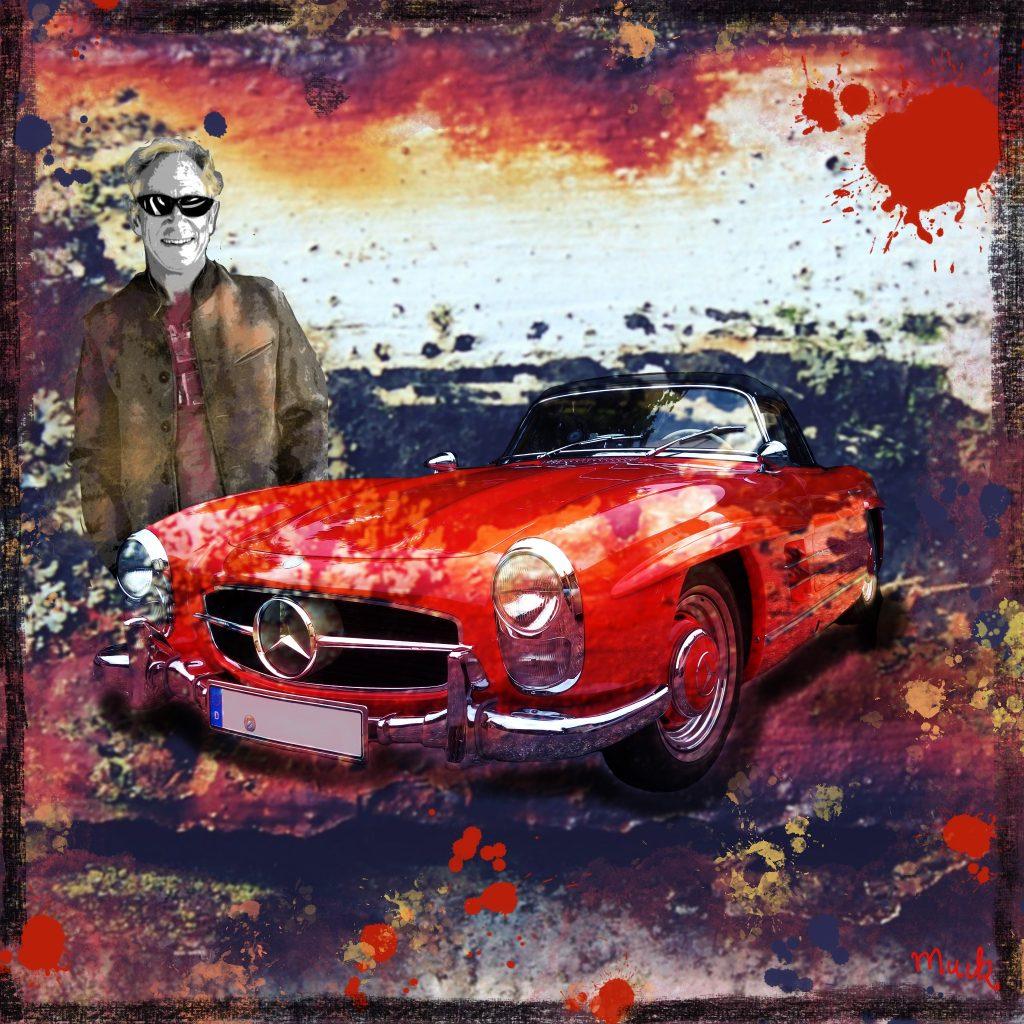 Collage Mercedes 300 SL Bj. 1957 Muck's Art